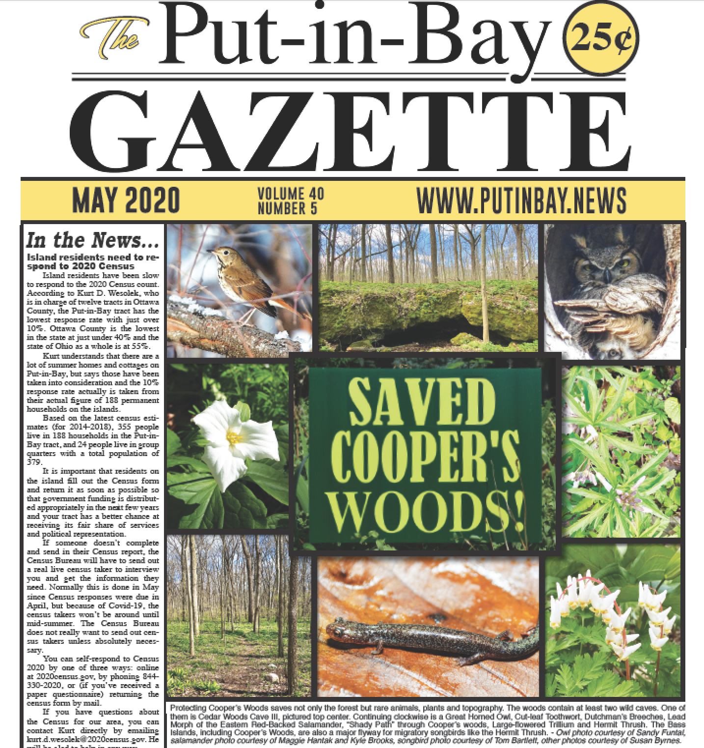 Gazette Front Page May 2020